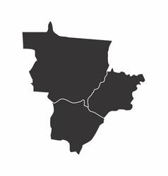 brazil center-west region vector image
