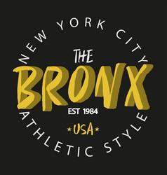 bronx new york vector image