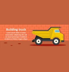 building truck banner horizontal concept vector image