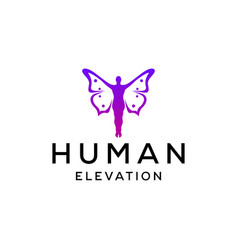 butterfly man sign vector image
