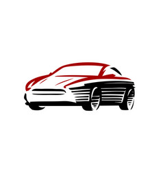 car logo automotive concept in abstract style vector image
