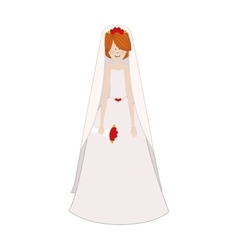 cartoon bride icon image vector image