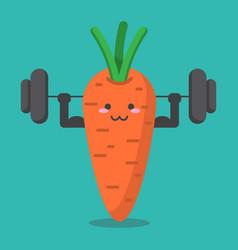 cartoon carrot health strong vector image
