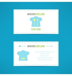 Chief head cook business card template made in vector image