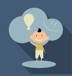 Child playing with balloons isolated vector