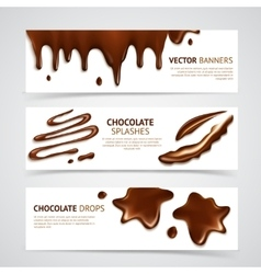 Chocolate banners set vector image