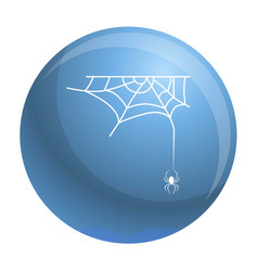 Cross spider web icon simple style vector