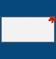 Cute christmas or new year frame with candy cane vector
