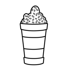 cute sweet milkshake icon vector image