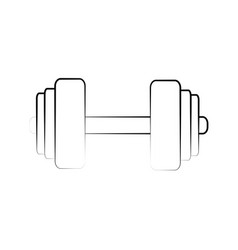 dumbbell weight symbol vector image