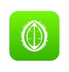 durian fruit icon digital green vector image