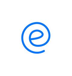 e letter round logo icon vector image