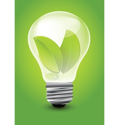 Eco lightbulb vector