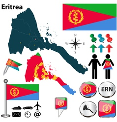 Eritrea map vector image