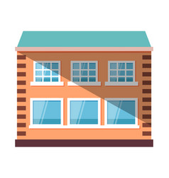 Exterior multi-storey building house vector
