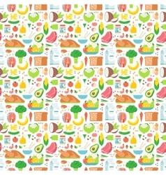 Food seamless pattern vector