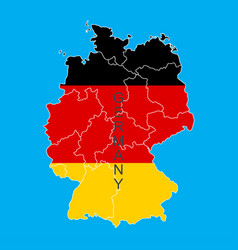 germany flag in form of map federal republic of vector image