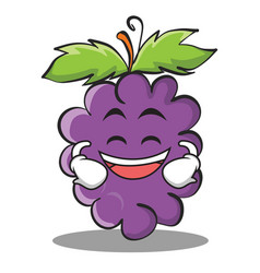 Grinning grape character cartoon collection vector