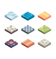 ground textures game templates surfaces vector image
