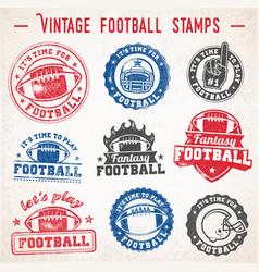 Grunge football logos vector