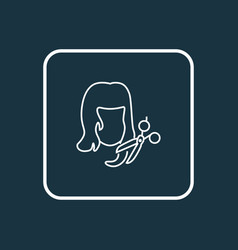 haircut icon line symbol premium quality isolated vector image