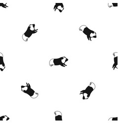 hamster pattern seamless black vector image