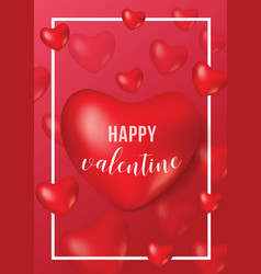 Happy valentine day poster banner card template vector