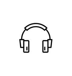 headphone line icon in flat style for app ui vector image