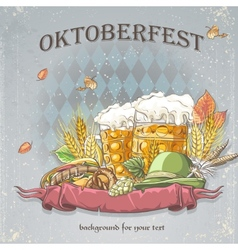 Image a celebratory background oktoberfest vector