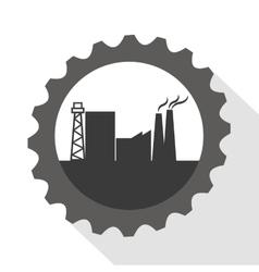 Industrial wheel factory design vector