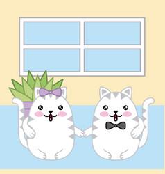 Kawaii animal cartoon vector