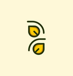 leaf line culture naturally business logo vector image