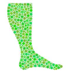 Leg mosaic of dots vector
