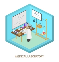 Medical laboratory scientist Isometric flat vector image
