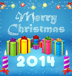 Merry Christmas background 2014 vector image