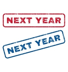 Next Year Rubber Stamps vector