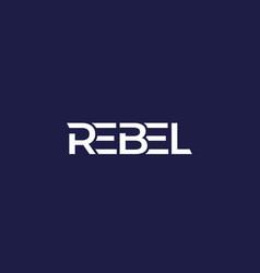 Rebel logo design vector
