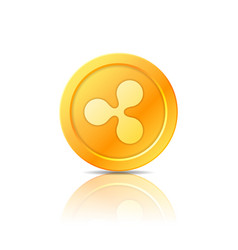 ripple coin symbol icon sign emblem vector image
