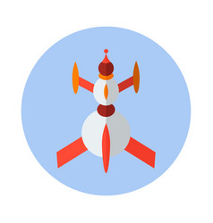 Rocket flat icon rocket icon a vector