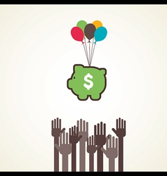 saving or making money concept vector image