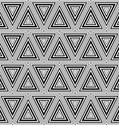 Seamless geometric black and white stripes vector image vector image