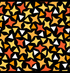 Seamless pattern in applique style bright stars vector