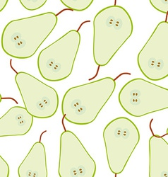 Seamless pattern with pear on the white background vector image