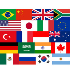 Set of flat flags vector