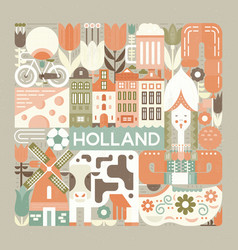 symbols of holland vector image