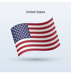 United States flag waving form vector