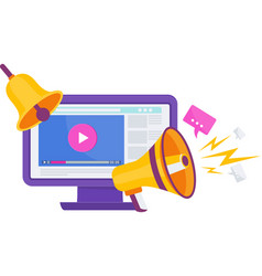 Video marketing video channel to internet vector