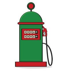 vintage gas pump vector image