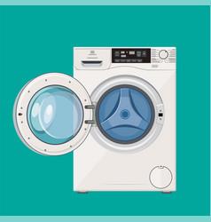 Washing machine with open door vector