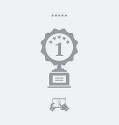 winner cup - web icon vector image